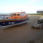 Lifeboat In Sand