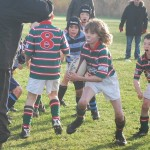 Under 10s attack  v Collegiate