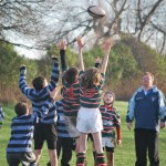 Under 10s lineout v Collegiate