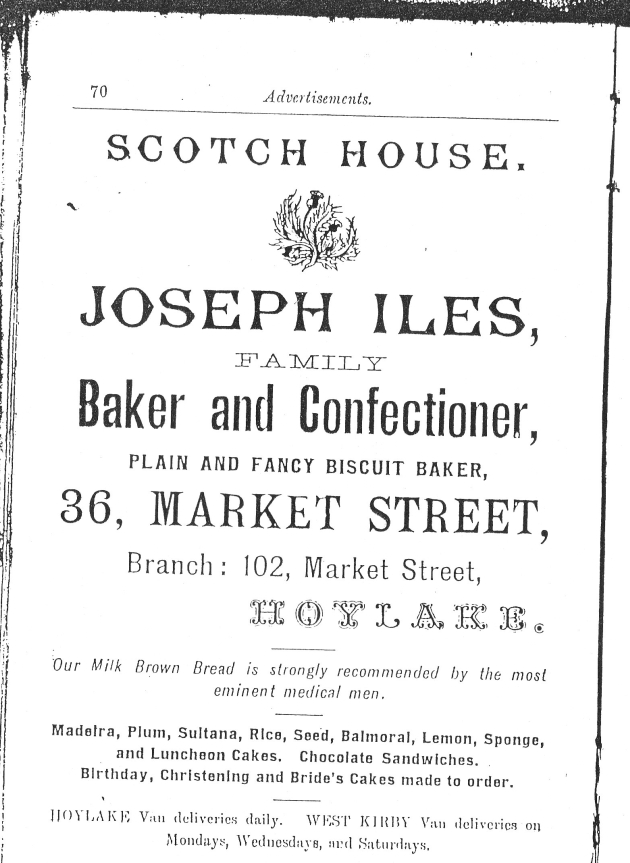 Joseph Iles advert