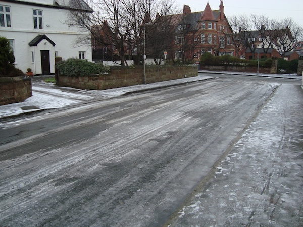 Marine Road snow