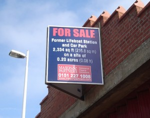 lifeboat station sale sign