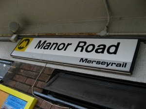Manor Road station sign