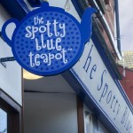 spotty blue teapot