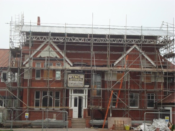 house scaffold