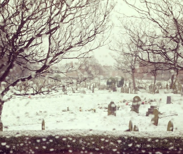 cemetery from window