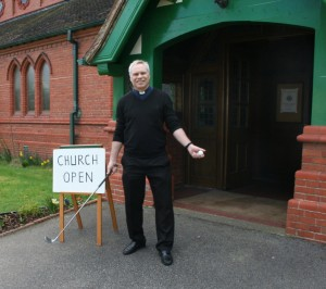 Rev Paul Rossiter at the golfers' church