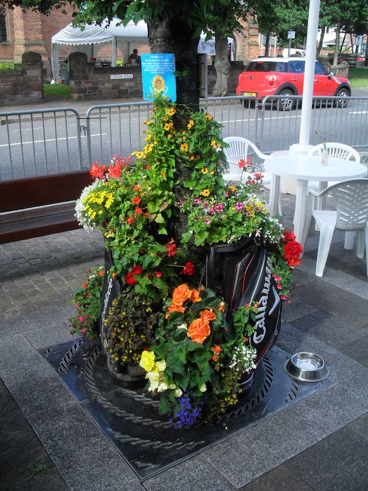 floral golf bag