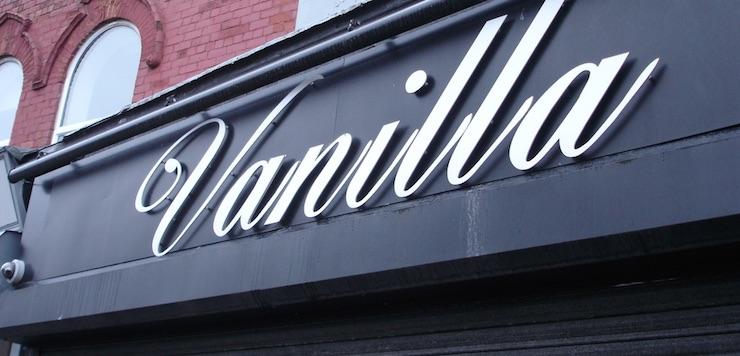 vanilla bar signage