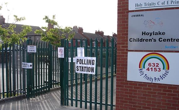 Hoylake polling station