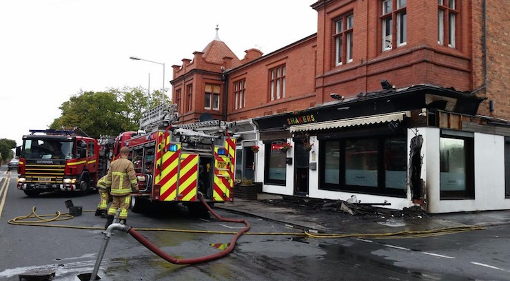 shakers bar fire