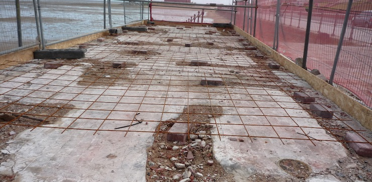toilet block foundations