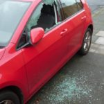 Car windows smashed
