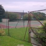 Revised plans for tennis courts development