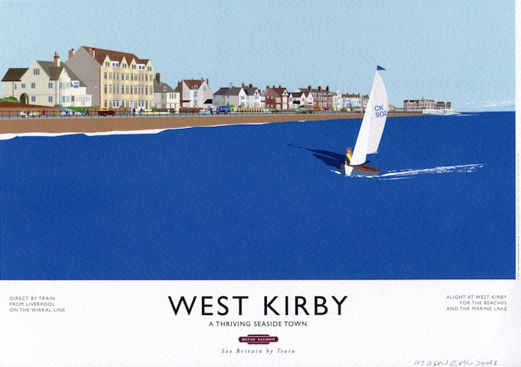 west kirby railway poster